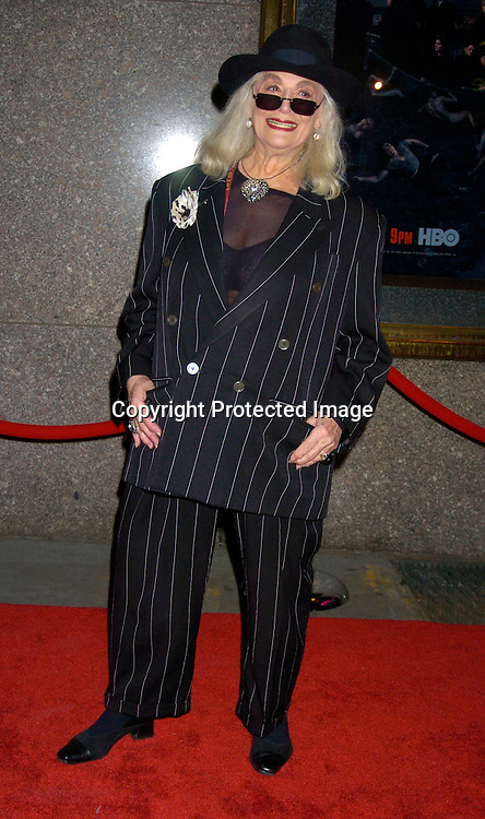 "Sylvia Miles..at the World Premiere of the fifth season of the HBO series ..""The Sopranos"" on March 2, 2004 at Radio City Music Hall. Photo by Robin Platzer, Twin Images"