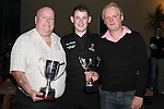 Karl O'Donoghue with Louth Manager, Vinnie Dunne and Louth Captain Matt Stephenson at the Party for the 2010 U21 World Pool Champion in Alverno House, Laytown....Photo NEWSFILE/Jenny Matthews.(Photo credit should read Jenny Matthews/NEWSFILE)....This Picture has been sent you under the condtions enclosed by:.Newsfile Ltd..The Studio,.Millmount Abbey,.Drogheda,.Co Meath..Ireland..Tel: +353(0)41-9871240.Fax: +353(0)41-9871260.GSM: +353(0)86-2500958.email: pictures@newsfile.ie.www.newsfile.ie.FTP: 193.120.102.198.
