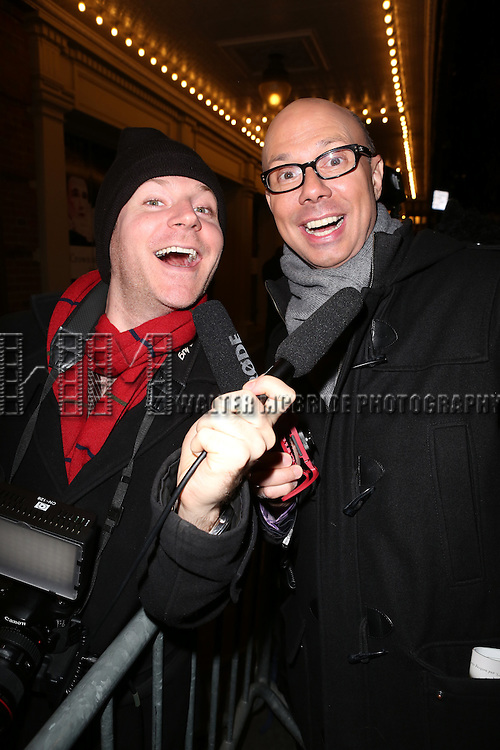Journalists Seth Walters and Richard Ridge attend the Broadway Opening Night Performance of 'Twelfth Night' at the Belasco Theatre on November 10, 2013 in New York City.