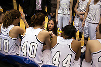 Kristi Kaniewski UIrich talks to her players during the IHSAA Class 4A Girls Basketball State Championship Game on Saturday, Feb. 27, 2016, at Bankers Life Fieldhouse in Indianapolis.
