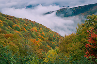 Breaking storm from Balsam Mountain Road<br />