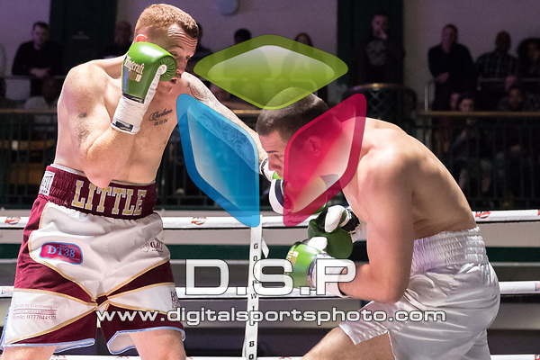 Mark Little vs Toni Bilic 4x3 - Cruiserweight Contest During Goodwin Boxing: Nemesis. Photo by: Simon Downing.<br /> <br /> Saturday 22th April 2017 - York Hall, Bethnal Green, London, United Kingdom.