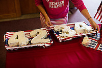 "A cake in the shape of the number 4234 indicates the number of days spent in vigil by members of the congregation at St. Frances Xavier Cabrini Church in Scituate, Mass., on Sun., May 29, 2016. Members of the congregation have been holding a vigil for more than 11 years after the Archdiocese of Boston ordered the parish closed in 2004. For 4234 days, at least one member of Friends of St. Frances X. Cabrini has been at the church at all times, preventing the closure of the church. May 29, 2016, was the last service held at the church after members finally agreed to leave the building after the US Supreme Court decided not to hear their appeal to earlier an Massachusetts court ruling stating that they must leave. The last service was called a ""transitional mass"" and was the first sanctioned mass performed at the church since the vigil began."