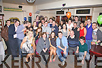 Donie O'Sullivan seated front centre from Cahersiveen celebrated his 21st birthday with family and friends at The Fertha Bar, Cahersiveen on Saturday night last.