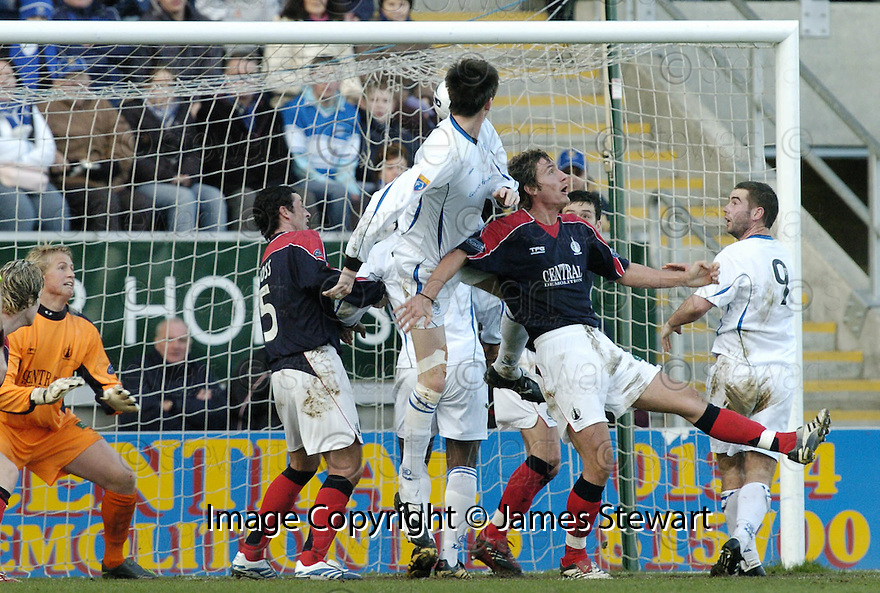 03/02/2007       Copyright Pic: James Stewart.File Name : sct_jspa01_falkirk_v_st_johnstone.KEVIN JAMES SCORES ST JOHNSTONE'S SECOND.....James Stewart Photo Agency 19 Carronlea Drive, Falkirk. FK2 8DN      Vat Reg No. 607 6932 25.Office     : +44 (0)1324 570906     .Mobile   : +44 (0)7721 416997.Fax         : +44 (0)1324 570906.E-mail  :  jim@jspa.co.uk.If you require further information then contact Jim Stewart on any of the numbers above.........