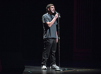 Maayan Lev '17 performs.  Occidental College students perform and compete during Apollo Night, one of Oxy's biggest talent showcases, on Friday, Feb. 26, 2016 in Thorne Hall. Sponsored by ASOC, hosted by the Black Student Alliance as part of Black History Month.<br /> (Photo by Marc Campos, Occidental College Photographer)