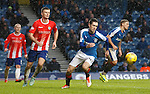 Ryan Hardie battling up front for Rangers