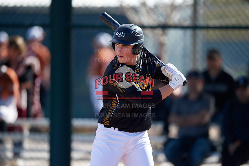 Joseph Harris during the Under Armour All-America Pre-Season Tournament, powered by Baseball Factory, on January 19, 2019 at Sloan Park in Mesa, Arizona.  Joseph Harris is a third baseman from Marshalltown, Iowa who attends Marshalltown High School.  (Mike Janes/Four Seam Images)