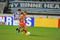 VOETBAL: ABE LENSTRA STADION: HEERENVEEN: 30-11-2013, SC Heerenveen - Go Ahead Eagles, uitslag 3-1, Stefano Marzo (#6 | SCH), Jeffrey Rijsdijk (#10 | GAE), ©foto Martin de Jong