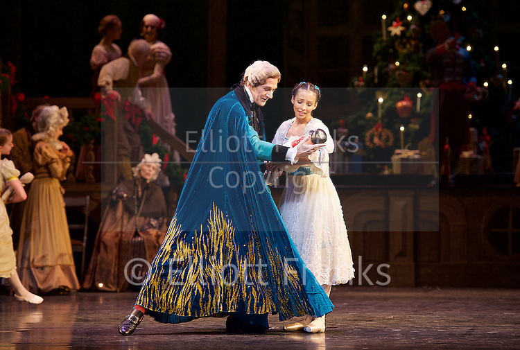 The Nutcracker<br /> <br /> Choreography by Peter Wright after Lev Ivanov<br /> Music by Tchaikovsky<br /> <br /> The Royal Ballet at the Royal Opera House, Covent Garden, London, Great Britain <br /> <br /> Pre-General Rehearsal <br /> <br /> 7 December 2015 <br /> <br /> <br /> Francesca Hayward as Clara  <br /> <br /> Gary Avis as Drosslemeyer  <br /> <br /> <br /> <br /> <br /> Photograph by Elliott Franks <br /> Image licensed to Elliott Franks Photography Services