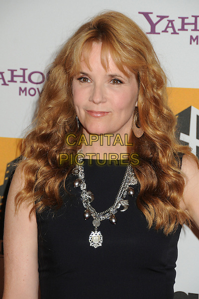 Lea Thompson.15th Annual Hollywood Film Awards Gala held at the Beverly Hilton Hotel, Los Angeles, California, USA..24 October 2011.headshot portrait black sleeveless necklace silver .CAP/ADM/BP.©Byron Purvis/AdMedia/Capital Pictures.