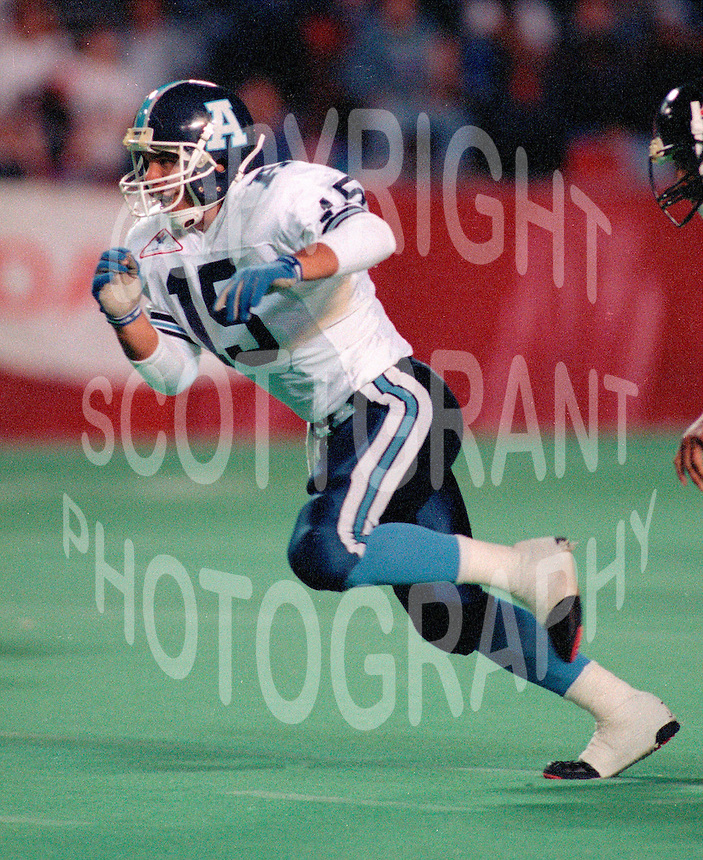 JP Isquierdo Toronto Argonauts 1992. Copyright photograph Scott Grant