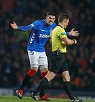 05.12.2018 Rangers v Aberdeen: Kyle Lafferty arguing with ref Steven McLean