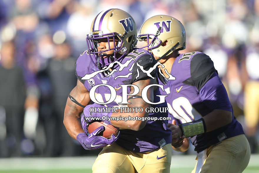 Sept 20, 2014:  Washington's Dwayne Washington against Georgia State.  Washington defeated Georgia State 45-14 at Husky Stadium in Seattle, WA.