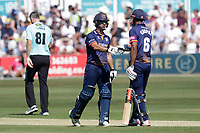 Ryan ten Doeschate (L) and Varun Chopra of Essex during Essex Eagles vs Surrey, Vitality Blast T20 Cricket at The Cloudfm County Ground on 5th August 2018