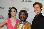 Meryl Davis & Cicely Tyson & Charlie White - The 11th Annual Skating with the Stars Gala - a benefit gala for Figure Skating in Harlem - honoring Meryl Davis & Charlie White (Olympic Ice Dance Champions and Meryl winner on Dancing with the Stars) and presented award by Tamron Hall on April 11, 2016 on Park Avenue in New York City, New York with many Olympic Skaters and Celebrities. (Photo by Sue Coflin/Max Photos)