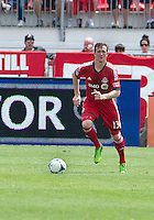 29 June 2013: Toronto FC defender Steven Caldwell #13 in action during an MLS game between Real Salt Lake and Toronto FC at BMO Field in Toronto, Ontario Canada.<br /> Real Salt Lake won 1-0.
