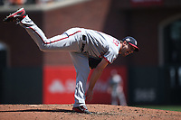SAN FRANCISCO, CA - APRIL 25:  Max Scherzer #31 of the Washington Nationals pitches against the San Francisco Giants during the game at AT&T Park on Wednesday, April 25, 2018 in San Francisco, California. (Photo by Brad Mangin)