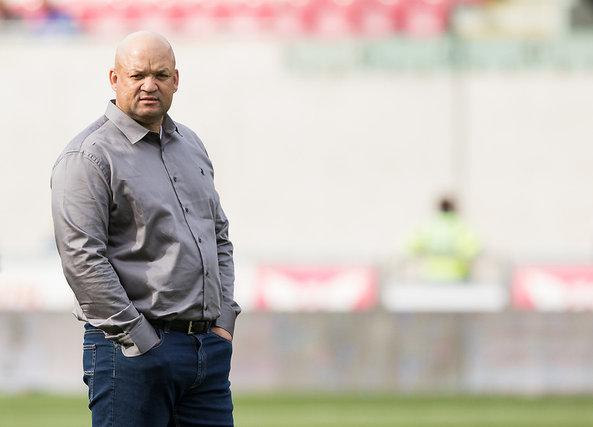 Southern Kings' Head Coach Deon Davids during the pre match warm up<br /> <br /> Photographer Simon King/CameraSport<br /> <br /> Guinness Pro14 Round 1 - Scarlets v Southern Kings - Saturday 2nd September 2017 - Parc y Scarlets - Llanelli, Wales<br /> <br /> World Copyright &copy; 2017 CameraSport. All rights reserved. 43 Linden Ave. Countesthorpe. Leicester. England. LE8 5PG - Tel: +44 (0) 116 277 4147 - admin@camerasport.com - www.camerasport.com
