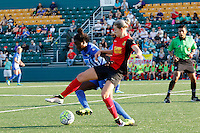 Rochester, NY - Friday June 24, 2016: Western New York Flash defender Alanna Kennedy (8), Boston Breakers forward Eunice Beckmann (27) during a regular season National Women's Soccer League (NWSL) match between the Western New York Flash and the Boston Breakers at Rochester Rhinos Stadium.