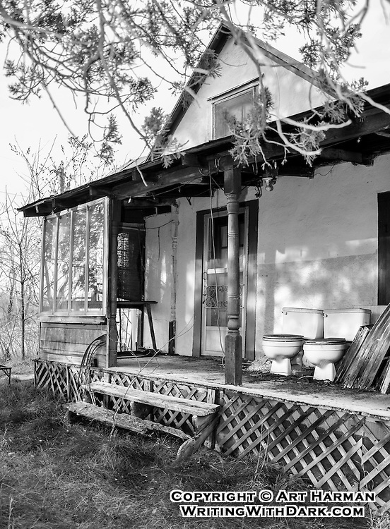 """""""Seating for Two"""" by Art Harman at an abandoned house in rural Virginia. Do you see it? Have a seat!"""