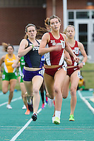 Jessica Martin of Oklahoma heads to the finish line in 800 Meter run during Baylor Invitational track meet, Friday, April 03, 2015 in Waco, Tex. (Mo Khursheed/TFV Media via AP Images)