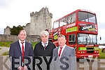 Cathal O'Grady, Patrick Paxo O'Sullivan and Pat Moynihan who have started The Big Red Bus tours around Killarney taking visitors to all of Killlarney's famous sites