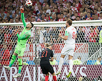 Moscow, Russia - July 11, 2018: Luzhniki Stadium, Croatia vs England, semifinals of the 2018 FIFA World Cup.  Final score Croatia 2, England 1 after overtime.