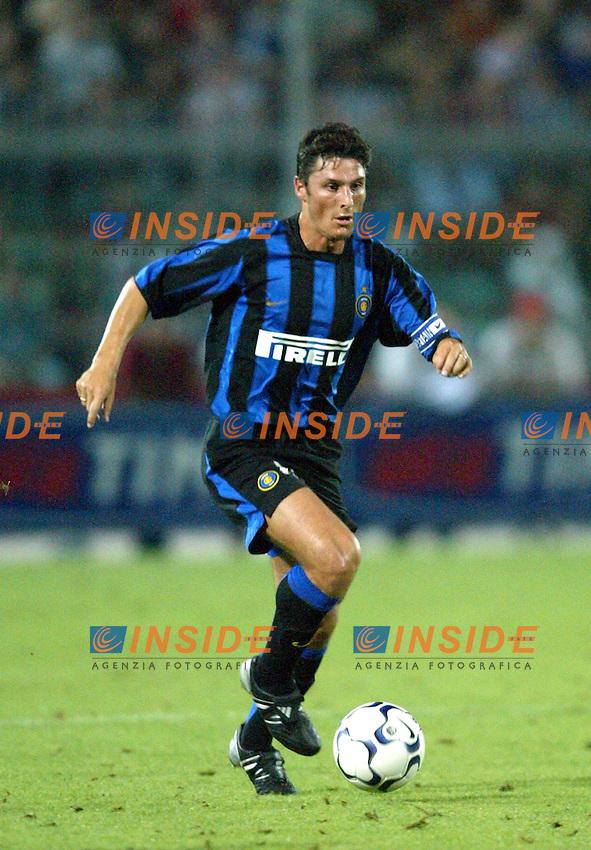 Ancona 12/08/2003<br /> Trofeo Tim - Tim Cup <br /> Javier Zanetti (Inter)