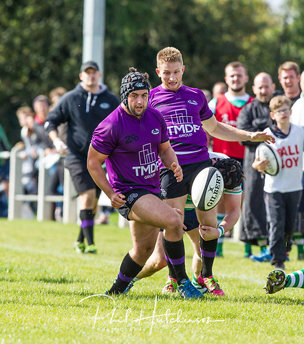 Leicester, England, 9th, September, 2017. <br /> <br /> Action in the National League 2 North rugby union match between Leicester Lions rfc and South Leicester rfc.  Oliver Taylor in action for Leicester Lions<br /> <br /> <br /> <br /> <br /> &copy; Phil Hutchinson