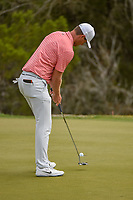Lucas Bjerregaard (DEN) sinks his putt on 2 during day 2 of the WGC Dell Match Play, at the Austin Country Club, Austin, Texas, USA. 3/28/2019.<br /> Picture: Golffile | Ken Murray<br /> <br /> <br /> All photo usage must carry mandatory copyright credit (© Golffile | Ken Murray)