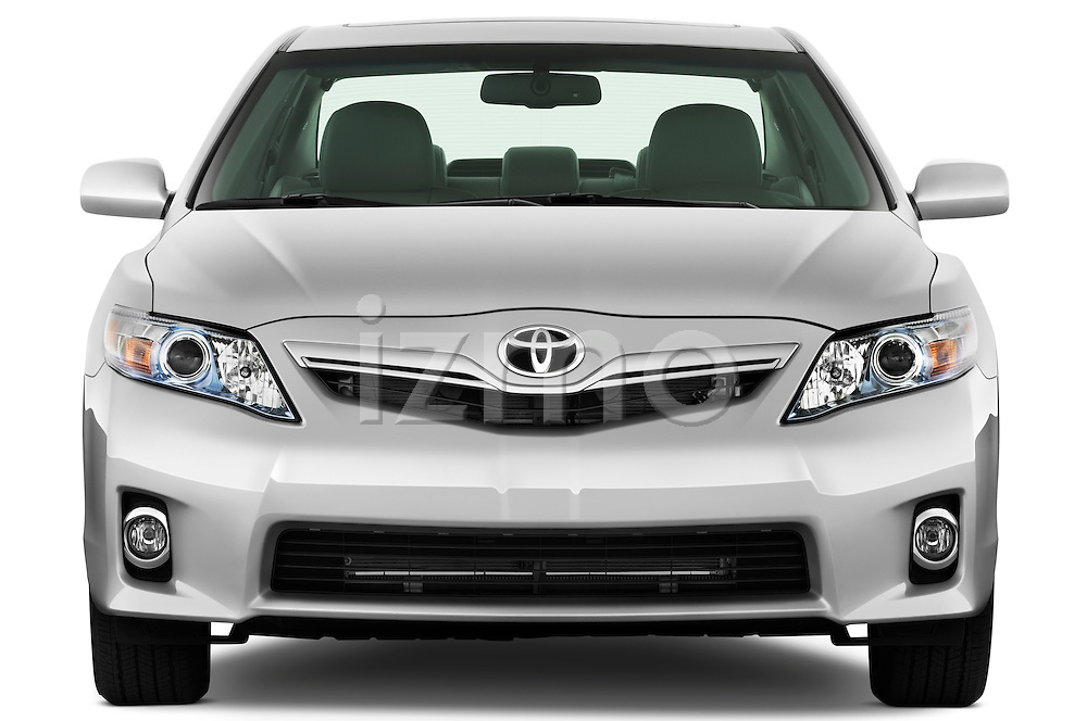 Straight front view of a 2010 Toyota Camry Hybrid