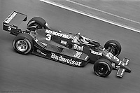 Bobby Rahal drives the Truesports March 86c Cosworth in the 1986 Indy 500 in Indianapolis, Indiana.