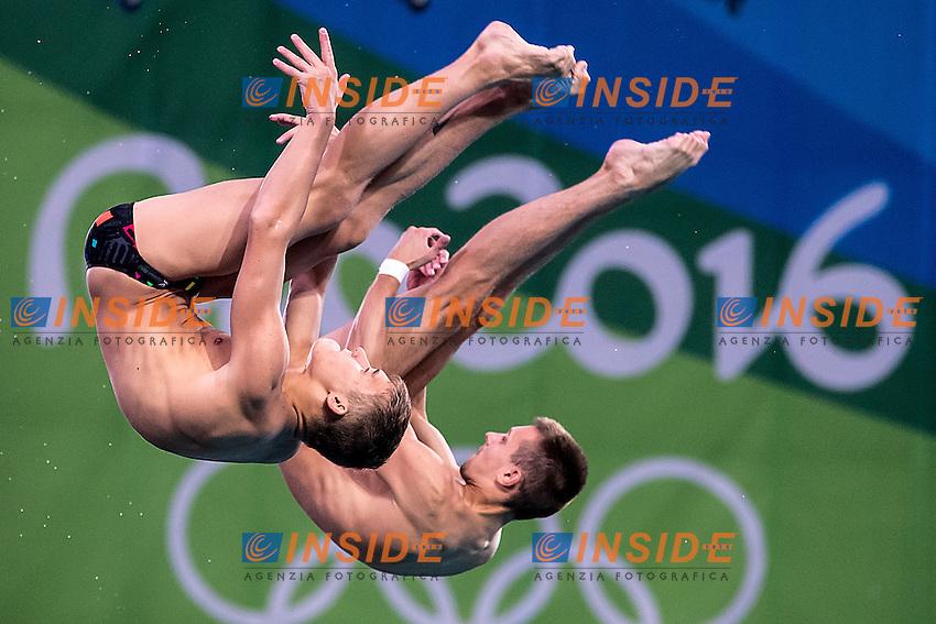 Team  RUS  MINIBAEV Viktor SHLEIKHER Nikita<br /> 10m platform synchro men<br /> Rio de Janeiro  XXXI Olympic Games <br /> Olympic Aquatics Stadium <br /> diving 08/08/2016<br /> Photo Giorgio Scala/Deepbluemedia/Insidefoto