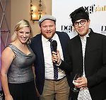 Laura Heywood, Jason SweetTooth Williams and George Salazar attends the cocktail party for the Dramatists Guild Foundation 2018 dgf: gala at the Manhattan Center Ballroom on November 12, 2018 in New York City.