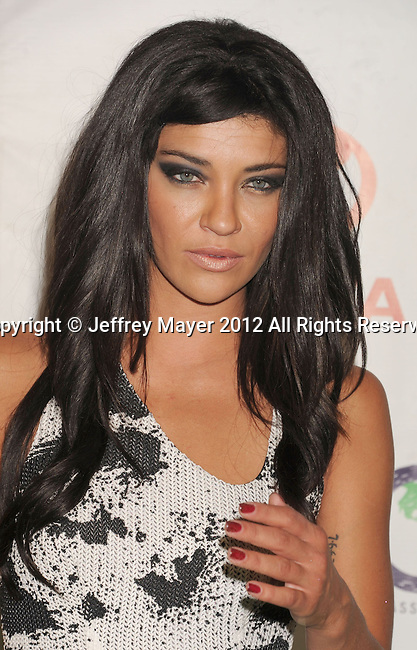 BURBANK, CA - SEPTEMBER 29: Jessica Szohr arrives at the 2012 Environmental Media Awards at Warner Bros. Studios on September 29, 2012 in Burbank, California.