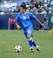 El Salvador's Jamie Alas cuts toward the goal.  El Salvador defeated Cuba 6-1 at the 2011 CONCACAF Gold Cup at Soldier Field in Chicago, IL on June 12, 2011.