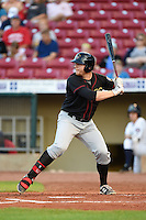 Quad Cities River Bandits first baseman A.J. Reed (18) at bat during a game against the Cedar Rapids Kernels on August 19, 2014 at Perfect Game Field at Veterans Memorial Stadium in Cedar Rapids, Iowa.  Cedar Rapids defeated Quad Cities 5-3.  (Mike Janes/Four Seam Images)