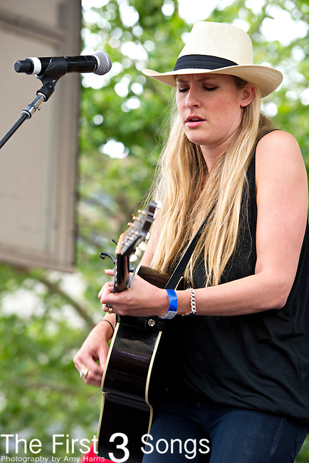 Holly Williams performs during Day 1 of the 2013 CMA Music Festival in Nashville, Tennessee.
