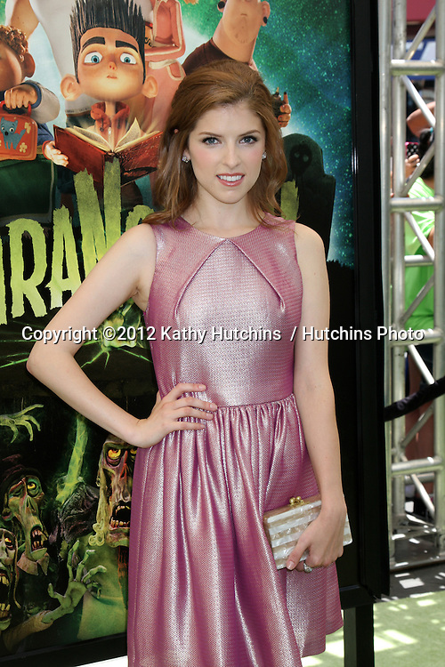 """LOS ANGELES - AUG 5:  Anna Kendrick arrives at the """"ParaNorman"""" Premiere at Universal CityWalk on August 5, 2012 in Universal City, CA"""