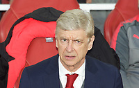 Arsenal Manager Arsene Wenger during the UEFA Europa League 1st leg match between Arsenal and Atletico Madrid at the Emirates Stadium, London, England on 26 April 2018. Photo by Andrew Aleksiejczuk / PRiME Media Images.
