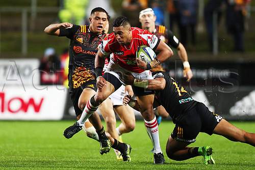 April 29th 2017, FMG Stadium Waikato, Hamilton, New Zealand; Super Rugby; Chiefs versus Sunwolves;  Sunwolves centre William Tupou in action during the Super Rugby rugby match
