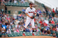 Rochester Red Wings pitcher Devin Smeltzer (21) during an International League game against the Charlotte Knights on June 16, 2019 at Frontier Field in Rochester, New York.  Rochester defeated Charlotte 3-2 in the second game of a doubleheader.  (Mike Janes/Four Seam Images)