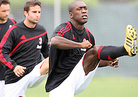 Clarence Seedorf of AC Milan during a practice session at RFK practice facility in Washington DC on May 24 2010.
