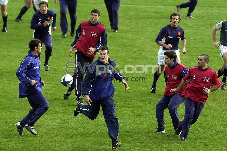 Pix: Dave Winter/SWpix.com. International Rugby Union. . France Training Paris. 20/02/2003...COPYWRIGHT PICTURE>>SIMON WILKINSON>>01943 436649>>..France's Damien Traille during training today ahead of the game against Scotland.