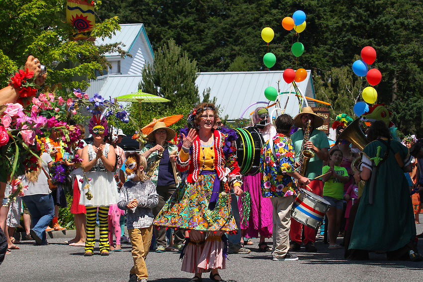 Summer Solstice Parade on Orcas Island, Washington