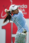 CHON BURI, THAILAND - FEBRUARY 16:  Ai Miyazato tees off on the 15 hole during day one of the LPGA Thailand at Siam Country Club on February 16, 2012 in Chon Buri, Thailand.  Photo by Victor Fraile / The Power of Sport Images
