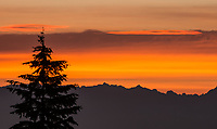 Sunrise and North Cascade Mountains
