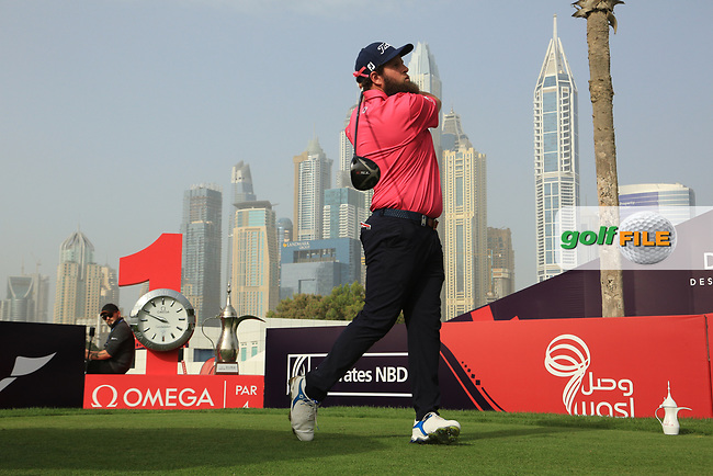 Andrew Johnston (ENG) in action during the second round of the Omega Dubai Desert Classic, Emirates Golf Club, Dubai, UAE. 25/01/2019<br /> Picture: Golffile | Phil Inglis<br /> <br /> <br /> All photo usage must carry mandatory copyright credit (© Golffile | Phil Inglis)