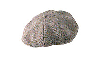 Studio photograph of Arran harris Tweed Cap